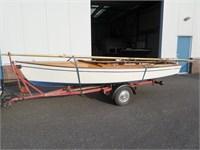 Schakel zeilboot met trailer €450,-