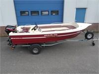 VERKOCHT: Aqualine 440 met Mercury 15pk en trailer
